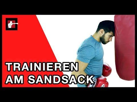 Sandsack Training / Boxen lernen für Anfänger am Sandsack