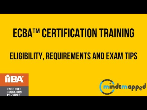 ECBA™ Certification Training - Eligibility Requirements and Exam ...