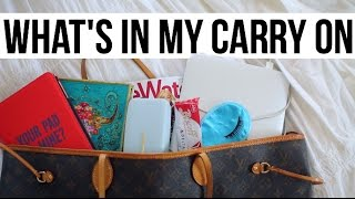 What's In My Carry On?! LV Neverfull GM + Travel Essentials || Sarah Belle