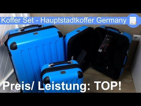 Reisekoffer Set Spree mit TSA Schloss von Hauptstadtkoffer für Urlaub. Eindruck + Funktionen