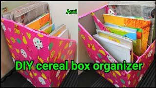 DIY Cereal Box Organizer|Quick, Easy, No Cost Organizer At Home|easy Diy Craft|Asvi