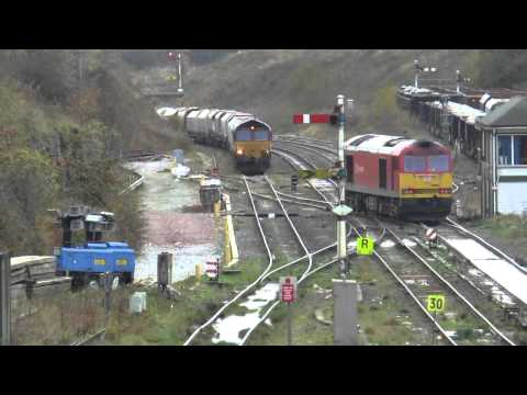 Freight trains at Peak Forest & Warrington Thursday 23rd Oct…