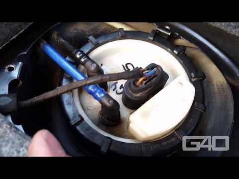 🇩🇪 Benzinpumpe am VW Golf 4 wechseln - Kraftstoffpumpe wechseln