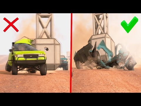 BEAMNG DRIVE - EPIC ROAD TRAPS AND FAILS CrashTherapy