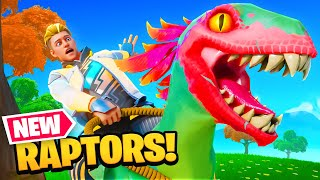 They added DINOSAURS to Fortnite! (Raptor Update)