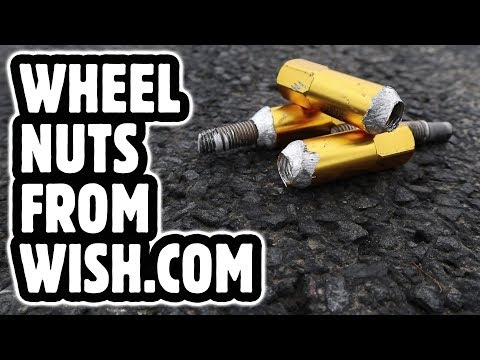 How dangerous are wish.com tuner wheel nuts? We find out! 😱