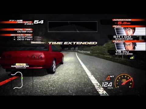 Initial D Arcade Stage 6AA Skyline GT-R (BNR34) VS Civic Type R (EK9