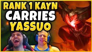 #1 KAYN WORLD SAVING YASSUO IN TYLER1 CHALLENGER BET - League of Legends