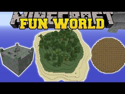 Minecraft: FUN WORLD MOD (SURVIVAL ISLAND, PLANETS, SKYBLOCK, & MORE!) Mod Showcase
