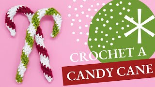 Easy Candy Cane to Crochet ~ Tutorial