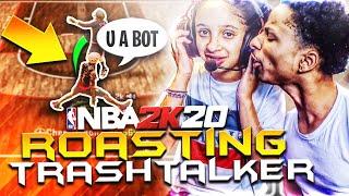 My LITTLE Sister Goes SAVAGE MODE ! ROASTING TRASH TALKERS NBA 2K20