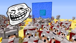 Minecraft CUBÃO : TROLLAGEM DO EXERCITO DE LOBO !!! (MINECRAFT TROLL)