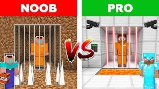 Minecraft NOOB vs PRO: PRISON ESCAPE in minecraft!