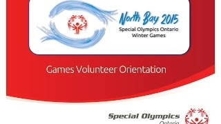 preview picture of video 'Special Olympics Ontario - North Bay Provincial Winter Games 2014 - Volunteer Orientation'