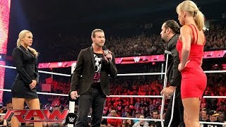 Dolph Ziggler and Lana confront Rusev and Summer Rae: Raw, July 6, 2015