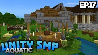 WORKING ON THE COMMUNITY TOWN!! - Unity SMP Aquatic EP.17 - Minecraft Pocket Edition (PE WIN10)