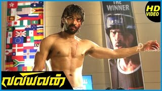 Valiyavan Tamil Movie | Climax Scene | Jai fights with Aaran Chaudhary infront of press | Andrea