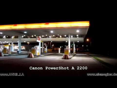 Canon PowerShot A2200 Digitalkamera HD Digital Camera Video Photo night test