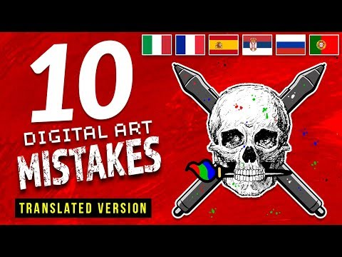 10 MISTAKES Digital Artists Make 👐
