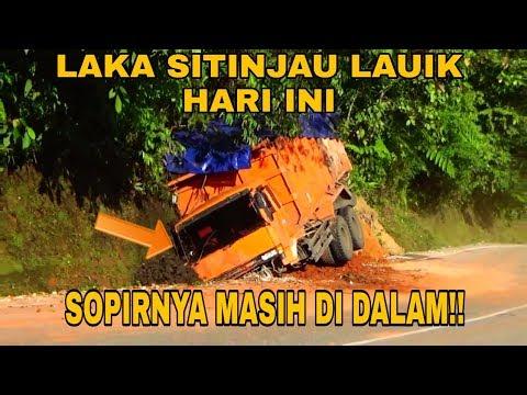 LAKA SITINJAU LAUIK HARI INI, TRUCK BATU BARA LAGI, SOPIRNYA MASIH DI DALAM !!!