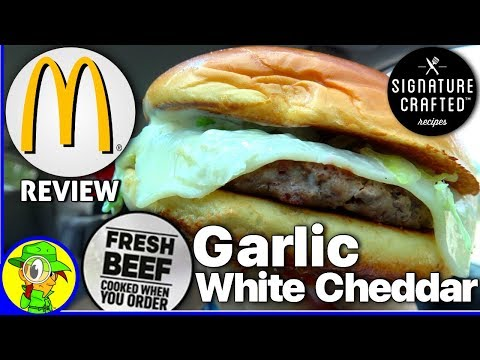 McDonald's®   Garlic White Cheddar Burger   100% Fresh Beef Review! 🧀🍔💯
