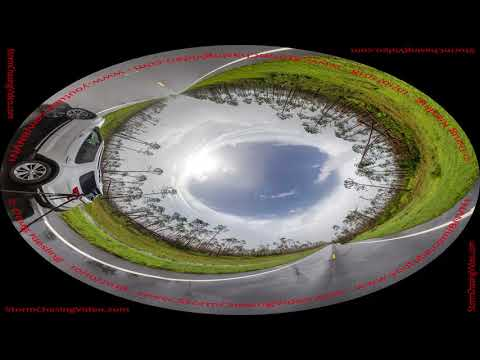 Inside The Eye Of Hurricane Michael 360 Stitched Image (видео)