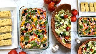 Pasta Pizza Casserole Video Recipe | Bhavna's Kitchen
