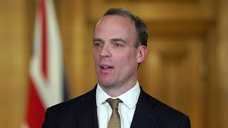 video: Politics latest news:  Watch live as Dominic Raab and Chris Whitty give daily coronavirus update