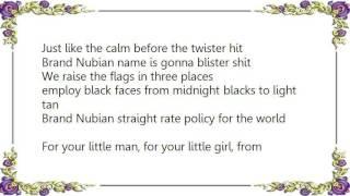 Brand Nubian - Shinin' Star Lyrics