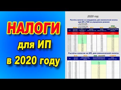 Расчёт налогов за СОТРУДНИКОВ и за ИП для ежемесячной оплаты на 2020 год