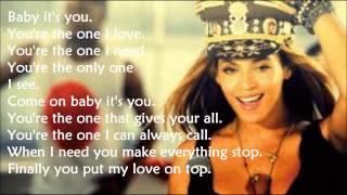 Beyoncé Love On Top (Lyrics)