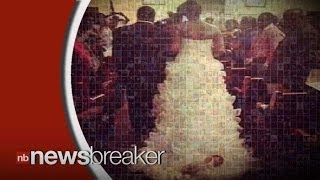 Bride Drags Newborn Baby Down the Aisle Attached to Dress