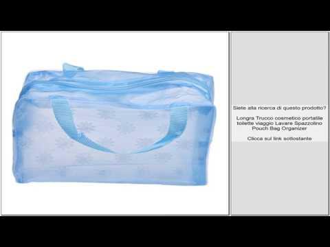 Longra Trucco cosmetico portatile toilette viaggio Lavare Spazzolino Pouch Bag Organizer