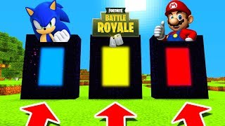 Minecraft PE : DO NOT CHOOSE THE WRONG PORTAL! (Sonic, Fortnite & Mario)
