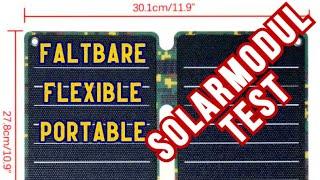 Flexible Faltbare Portable Solarmodul Test Solaranlage Balkonkraftwerk Grüne Energie
