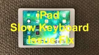 iPad Slow and Laggy Keyboard Problem And Fix, How To Fix Slow Keyboard Issue on iPhone or iPad