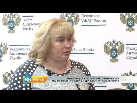 Новости Псков 06.04.2017 # Оштрафован начальник УГХ г.Пскова