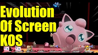 Evolution of Screen KOs  in Super Smash Bros Series (The Original 12 Characters & Melee)