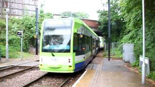 preview picture of video 'Tramlink Croydon Cr4000 @ Morden Road 01-06-2010'