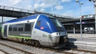 preview picture of video 'Amiens (France) - Train watching at Gare d'Amiens'