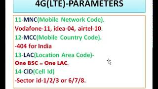 4G,3G,2G ALL PARAMETERS TRAINING ||