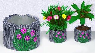 Easy Flower Vase Making    Flower Pot Making    Cement Vase    Decorative Showpiece For Home Decor