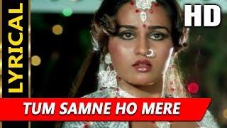 Tum Samne Ho Mere With Lyrics | Lata Mangeshkar| Badle Ki