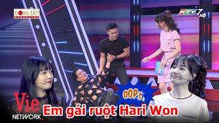 """Hari Won lôi em gái ruột tham gia gameshow, Trường Giang phán """"gia đình cũng không đoàn kết lắm"""""""