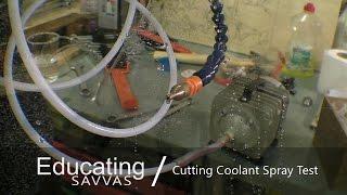 CNC Coolant Spray Test / Lubrication Mister System