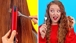 AWESOME HAIR TRICKS AND HACKS || Cool And Easy Hair Ideas For Girls by 123 GO!