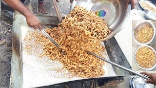 Crispy Sweet | Khurma | 50 KG Traditional Sweet Making | Most Desire Food Of Village Kids