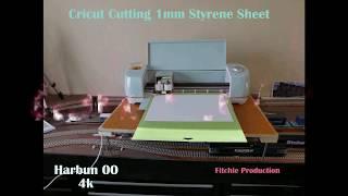 Cricut cutting 1mm styrene sheet
