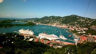 preview picture of video 'View of Charlotte Amalie Harbor, St. Thomas from Flag Hill'