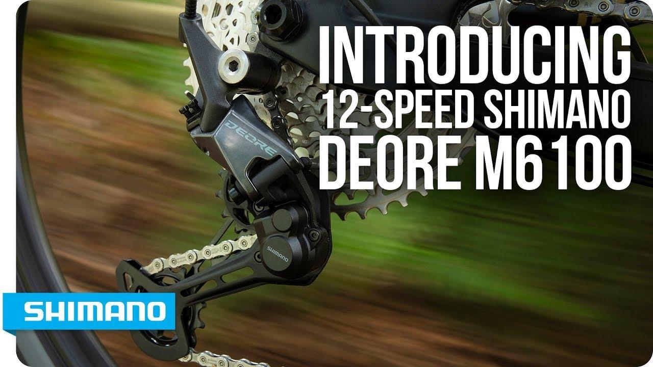 Видео Переключатель правый Shimano Deore SL-M6100-R 12-speed (no index) черный